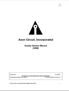 Axon Download - Quality Manual